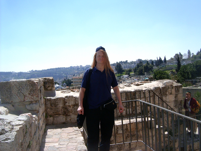 MagPro Photo of the Day: Misop on the wall surrounding the Old City, Jerusalem  You can walk along the wall that surrounds the Old City. Here I was between the Dung and the Zion Gates.  To read a story in the bible about a previous version of this wall, click Isaiah 36.  For even more MagPro Photos, visit Photos.MagPro.org