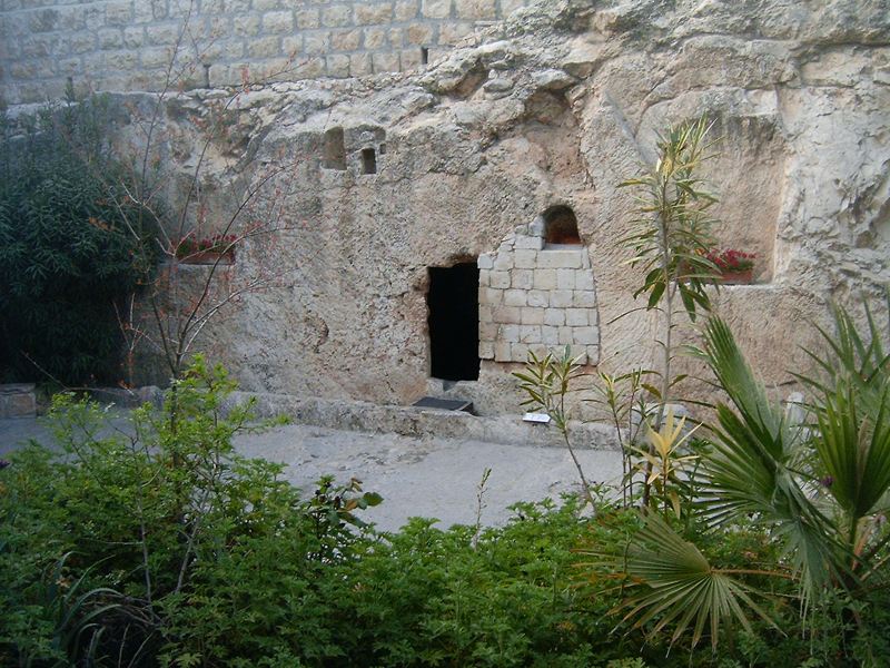 MagPro Photo of the Day: Yeshua's Grave Site  After Yeshua (Jesus) was crucified, some feel he was buried here in a rich man's grave (Joseph of Arimathaea). Then, wasn't he off to the underworld to make salvation available to those who had died previously? Matthew 12:40: 'For as Jonas was three days and three nights in the whale's belly; so shall the Son of man be three days and three nights in the heart of the earth.' Come back tomorrow, maybe I can tell you if Yeshua came out of the grave.   For more photos, please visit MagPro Photos (www.MagPro.org/Photos)
