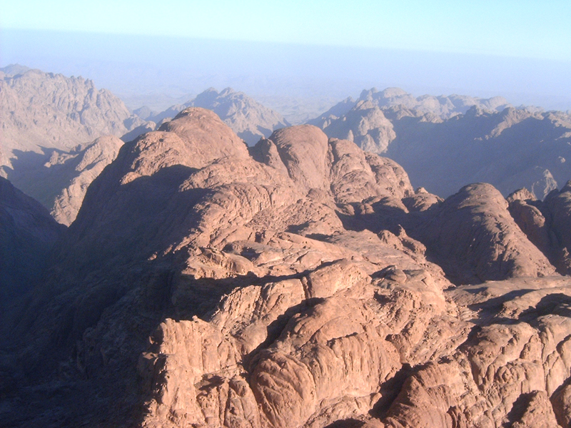 This 'MagPro Photo of the Day' shows the peak of Mount Sinai in modern day Egypt. This is where many believe that Moses spoke with God and recieved the Law as recorded in the Book of Exodus of the Torah (the first five books of the Bible).