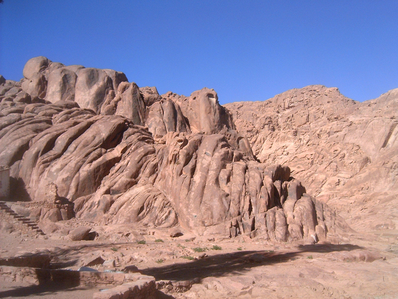 MagPro Photo of the Day: Mount Sinai Rocks Look Moved  In Exodus 19:18 it says: 'And mount Sinai was altogether on a smoke, because the LORD descended upon it in fire: and the smoke thereof ascended as the smoke of a furnace, and the whole mount quaked greatly.' These rocks look like they went through some quaking, so ripped and torn. It is marvelous to consider that these rocks may have witnessed the Lord's presence.  For more photos, please visit MagPro Photos (www.MagPro.org/Photos)