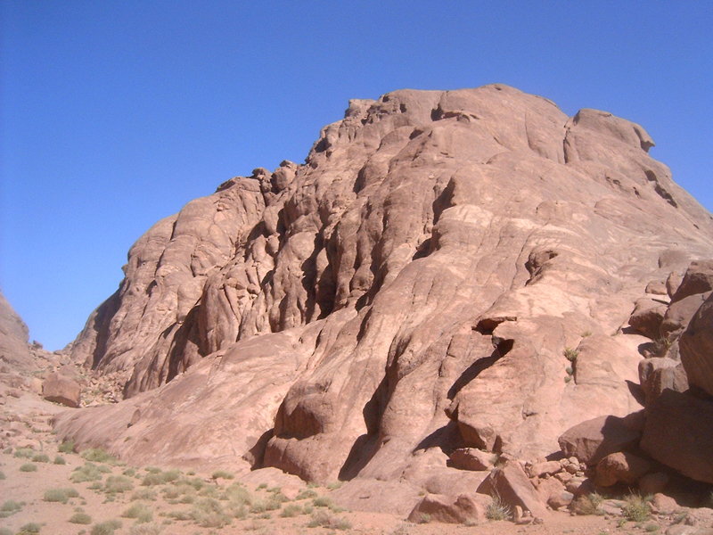 MagPro Photo of the Day: Rocks Looking Up Toward Heaven  Atop Mount Sinai, these rocks look as if they are looking up toward heaven. The Bible claims, in the book of Exodus, that God spent some time on this mountain. Maybe these very rocks were there to see his arrival from heaven and his glory on the mountain.  For more photos, please visit MagPro Photos (www.MagPro.org/Photos)