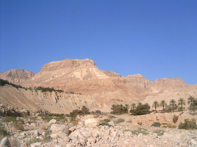 MagPro Photo of the Day: Towering Rocks Overlooking the Sea  These massive rock structures are part of The Wadi of David, located in Ein Gedi, Israel. Hermes and I were trekking about amazed at the sights we saw. The Dead Sea is about a half mile from these rock structures.  For more photos, please visit MagPro Photos (www.MagPro.org/Photos)