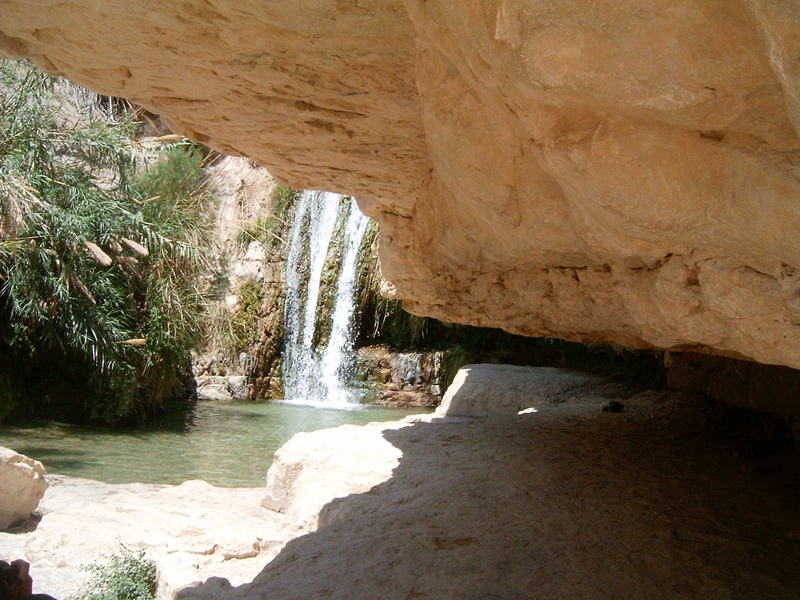 MagPro Photo of the Day: Water Fall and Pool at Wadi of David  This wonderful waterfall keeps on flowing. Swimming in the little pool in front of the waterfall is marvelous for cooling down after walking about these dry spectacular lands. The Wadi of David is located in Ein Gedi, Israel.  For more photos, please visit MagPro Photos (www.MagPro.org/Photos)