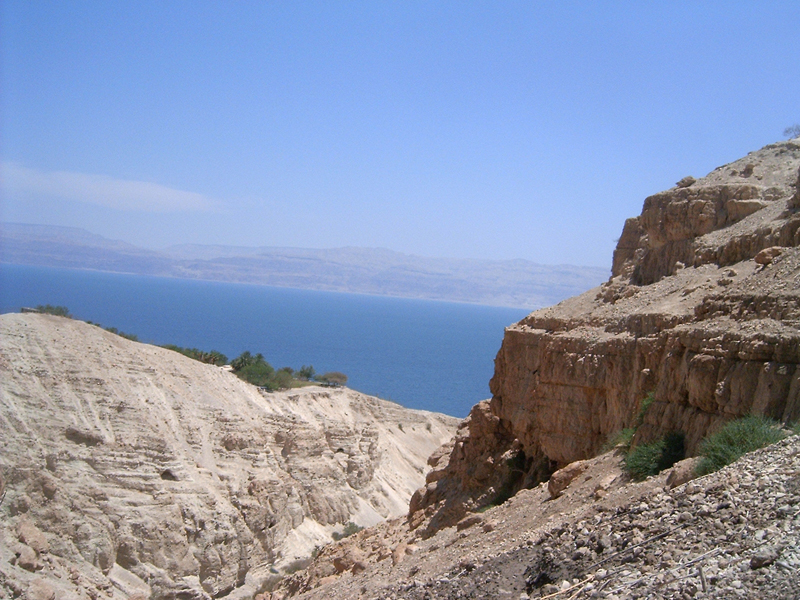 This 'MagPro Photo of the Day' shows a beautiful view of the Dead Sea from the Wadi of David, Ein Gedi, Israel. Misop Baynun