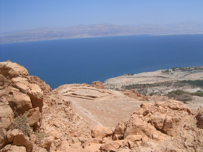This 'MagPro Photo of the Day' shows the Dead Sea from the Wadi of David trecking grounds in Ein Gedi, Israel. You can also see an ancient Temple outline. Misop Baynun
