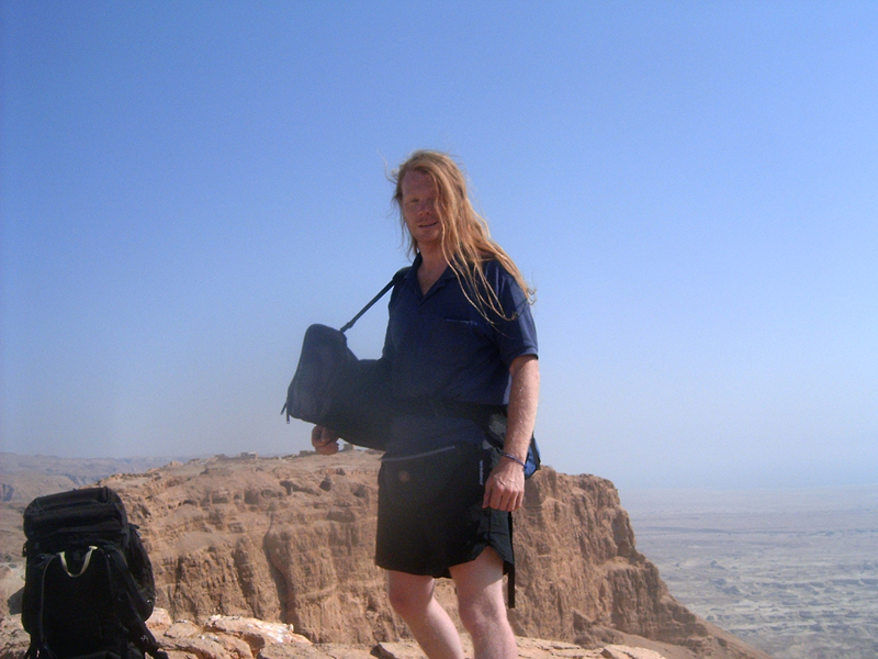 MagPro Photo of the Day: Misop In Front of Masada  'Just do as much as you can with as much as you've got.' 'God understands what you cannot do and do not have.' With Masada behind me and my photo-taking friend, Hermes, before me, I was well inspired to enjoy this beautiful day that I had in Israel. I pray that you enjoy this day that you have today. Misop Baynun  For more photos, please visit MagPro Photos (www.MagPro.org/Photos)