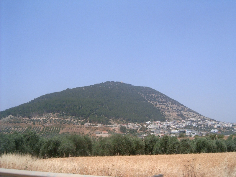 MagPro Photo of the Day: Mount Tabor, Israel  Some feel that this Mount Tabor is the site that Yeshua (Jesus), Moses and Elijah chatted for a bit – Yeshua's Dad joined them as well. Moses was not previously allowed to see the promised land, but only glanced at it from from across the Jordan River. With Christ, he was allowed.  [See Matthew 17:1-9, Deuteronomy 34:1]  For more photos, please visit MagPro Photos (www.MagPro.org/Photos)